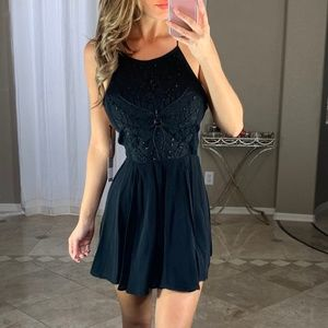 New Lovers + Friends Black Fit & Flare Dress XS